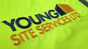 Young Site Services Logo Embroidery On Hi Viz Jacket